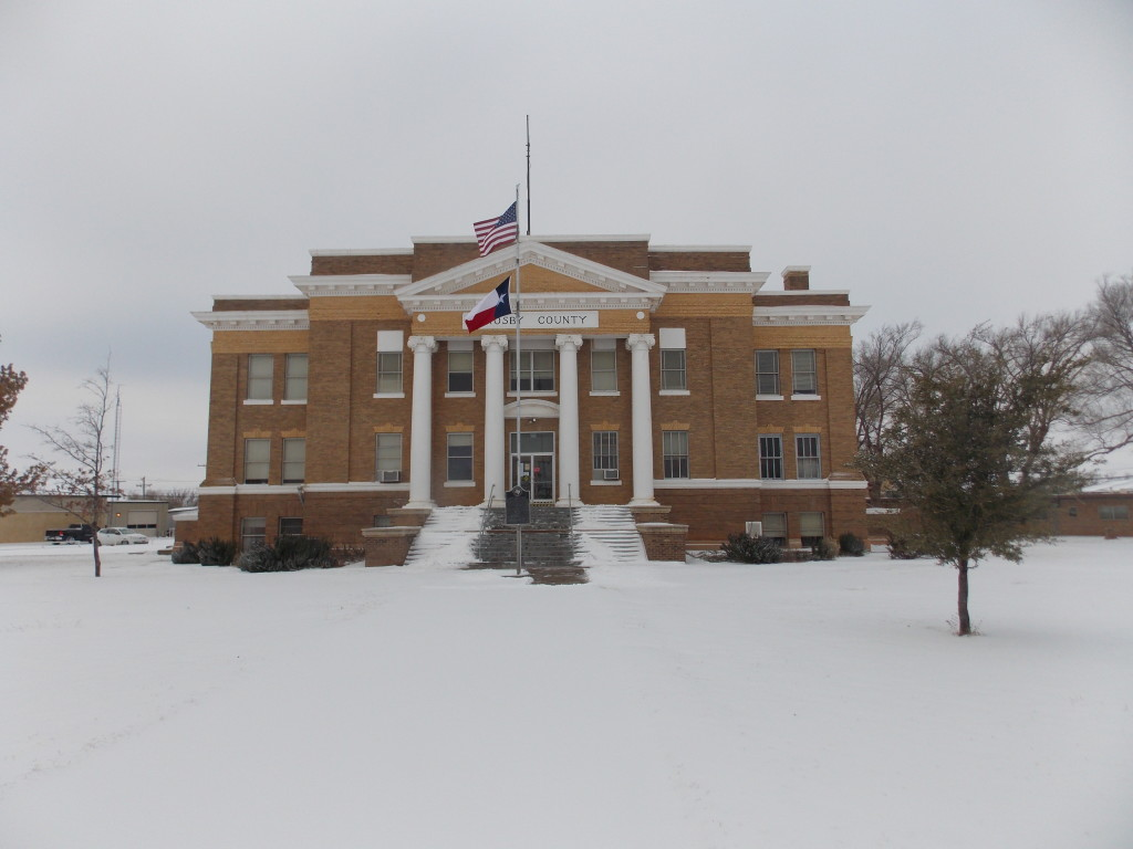 Snowy Crosby County Courthouse - Cosbyton Chamber